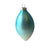Aqua Ombre Matte Satin Glass Ornament - Double Point