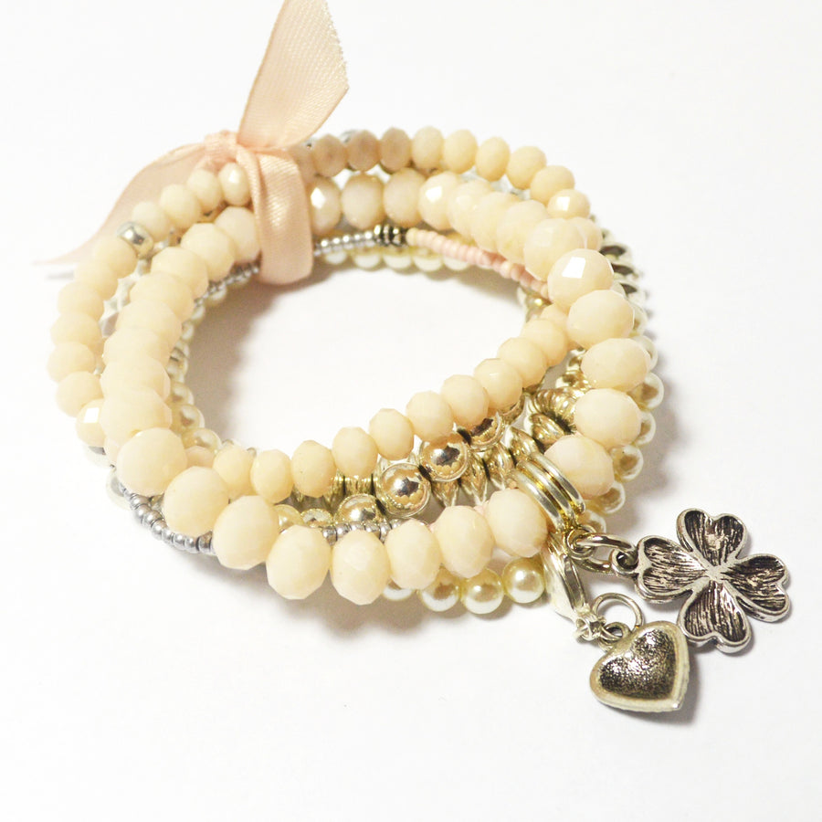 Monochromatic Bracelet Bundle with Fresh Water Pearls