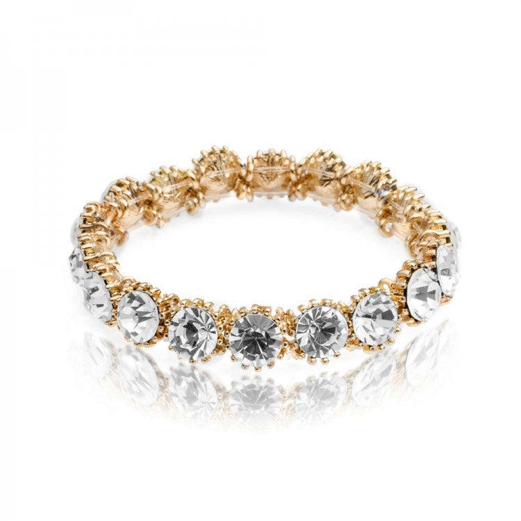 Lovett & Co. Sparkle Stone Bracelet Crystal on Gold Plate, L&C-Lovett & Co., Putti Fine Furnishings