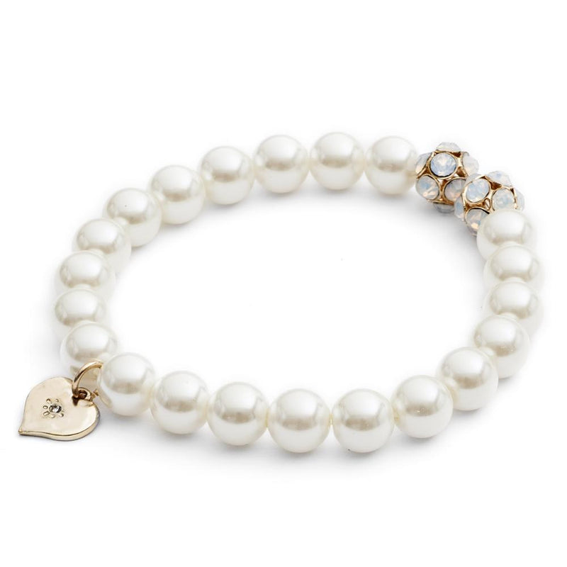 Lovett & Co. Pearl and Chaton Bracelet - Cream | Putti Fine Fashions