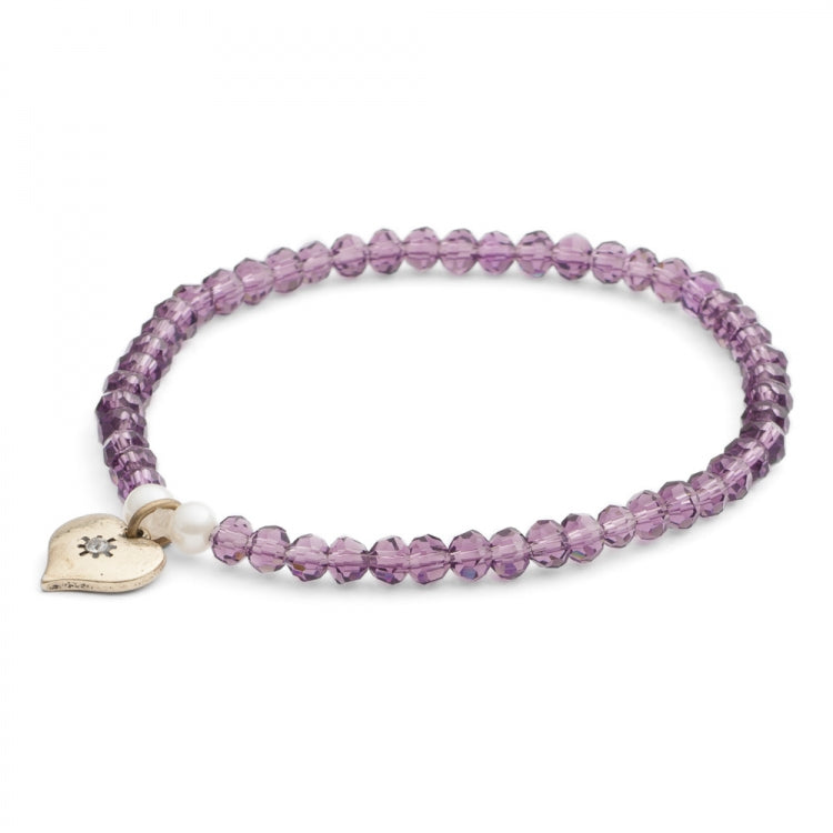 Lovett & Co. Tiny Sparkle Bead Bracelet - Amethyst, L&C-Lovett & Co., Putti Fine Furnishings