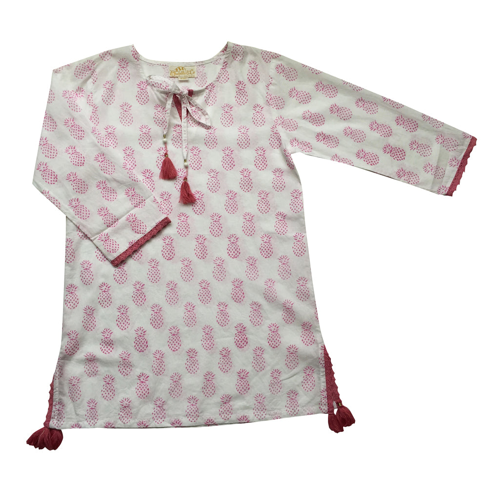 """Capri"" Pink Pineapple Kaftan, PC-Powell Craft Uk, Putti Fine Furnishings"