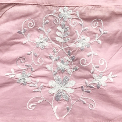 Palma Pink Embroidered Top with Tassel Straps, PC-Powell Craft Uk, Putti Fine Furnishings