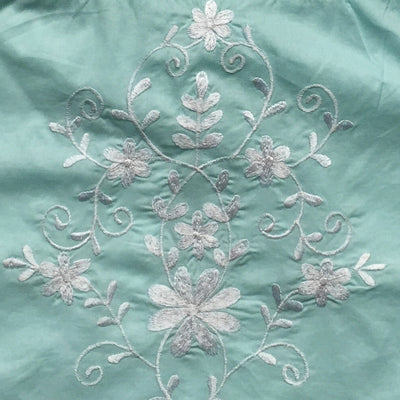Palma Green Embroidered Top with Tassel Straps, PC-Powell Craft Uk, Putti Fine Furnishings