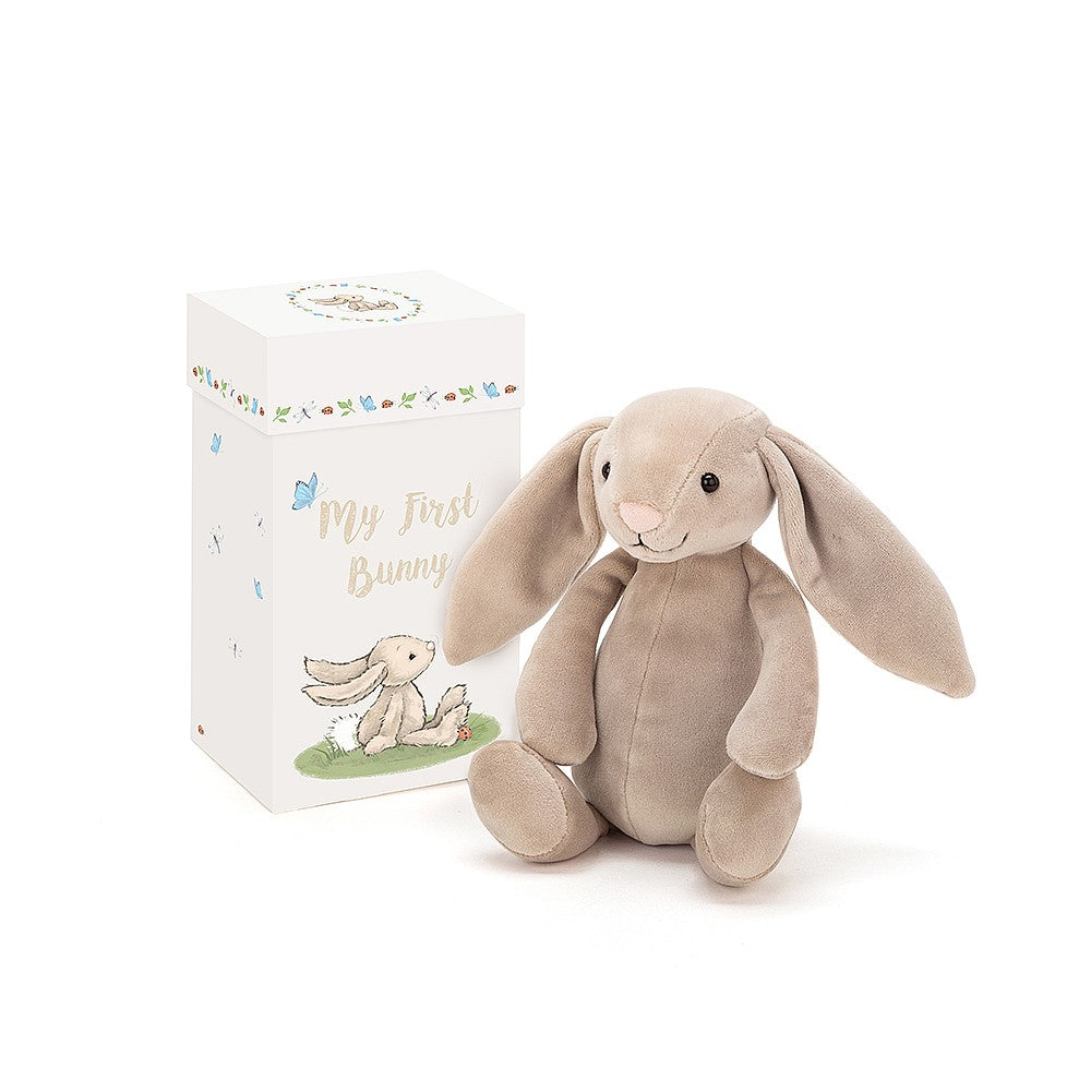 "Jellycat ""My First Bunny"" Soft Toy in Gift Box 