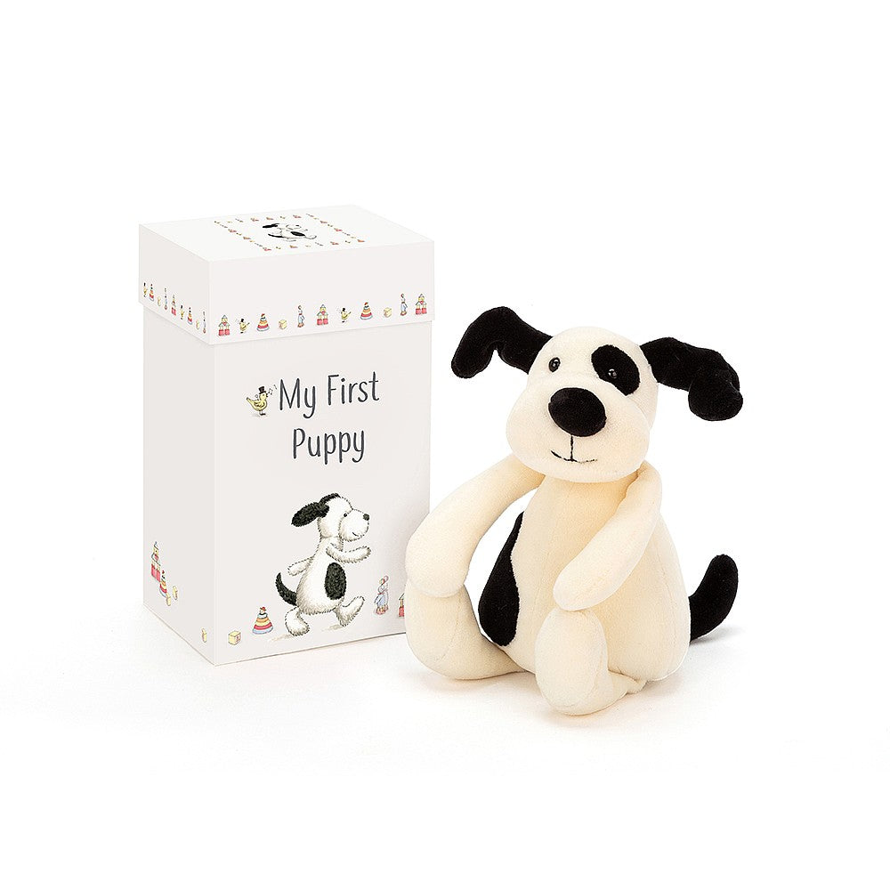 "Jellycat ""My First Puppy"" Soft Toy in Gift Box 