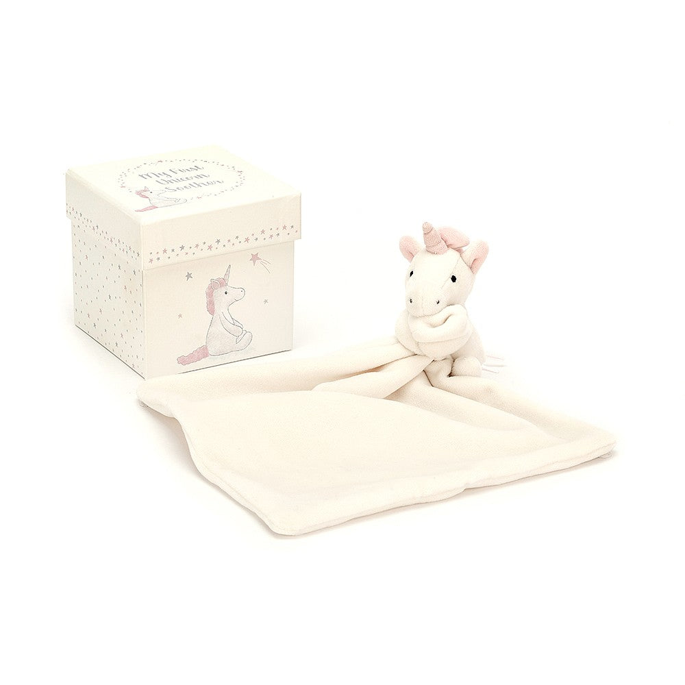 "Jellycat ""My First Unicorn"" Soother in Gift Box 