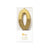 """We Heart Birthdays"" Gold Glitter Number Candle - Zero 