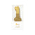 """We Heart Birthdays"" Gold Glitter Number Candle - One 