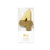 """We Heart Birthdays"" Gold Glitter Number Candle - Four