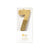 """We Heart Birthdays"" Gold Glitter Number Candle - Seven 