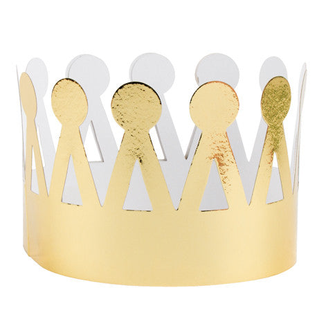 Metallic Gold Paper Crowns, PP-Party Partners - Estelle Gifts, Putti Fine Furnishings