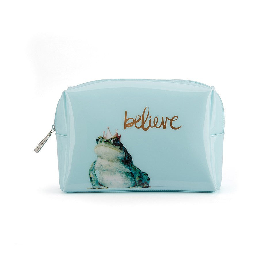 """Believe"" Frog Prince Beauty Bag - Large"