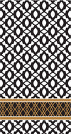 "Black & White ""Midnight"" Napkins - Buffet Guest -  Party Supplies - Carsim Trading - Putti Fine Furnishings Toronto Canada"