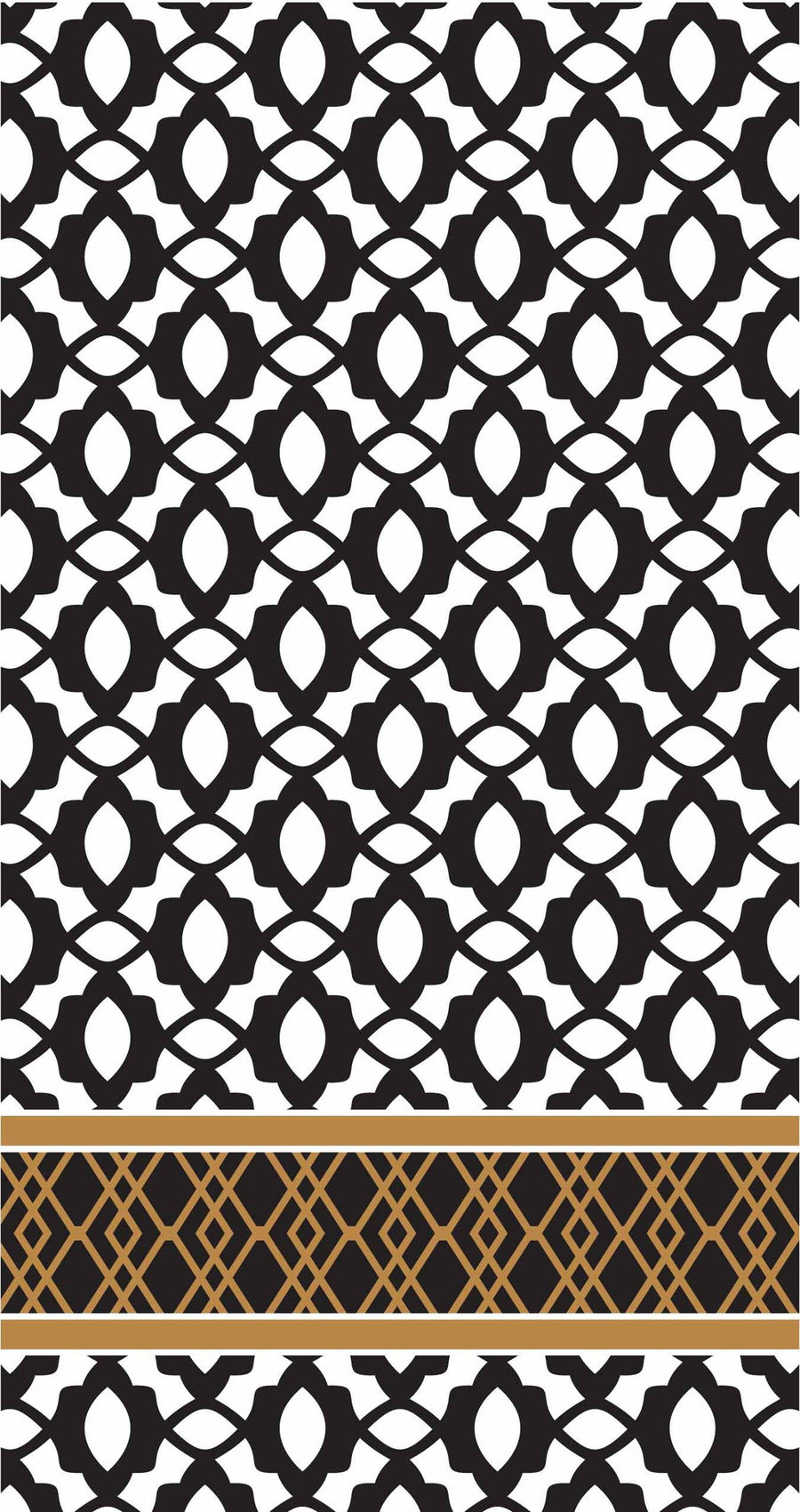 "Black & White ""Midnight"" Napkins - Buffet Guest"