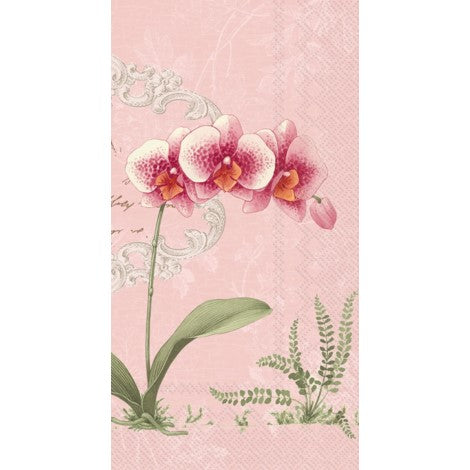 Orchidee Paper Guest Napkin - Light Rose