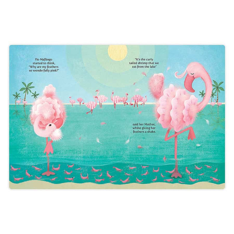 "Jellycat ""Flo Maflingo How Pink Can She Go Book"" Book"
