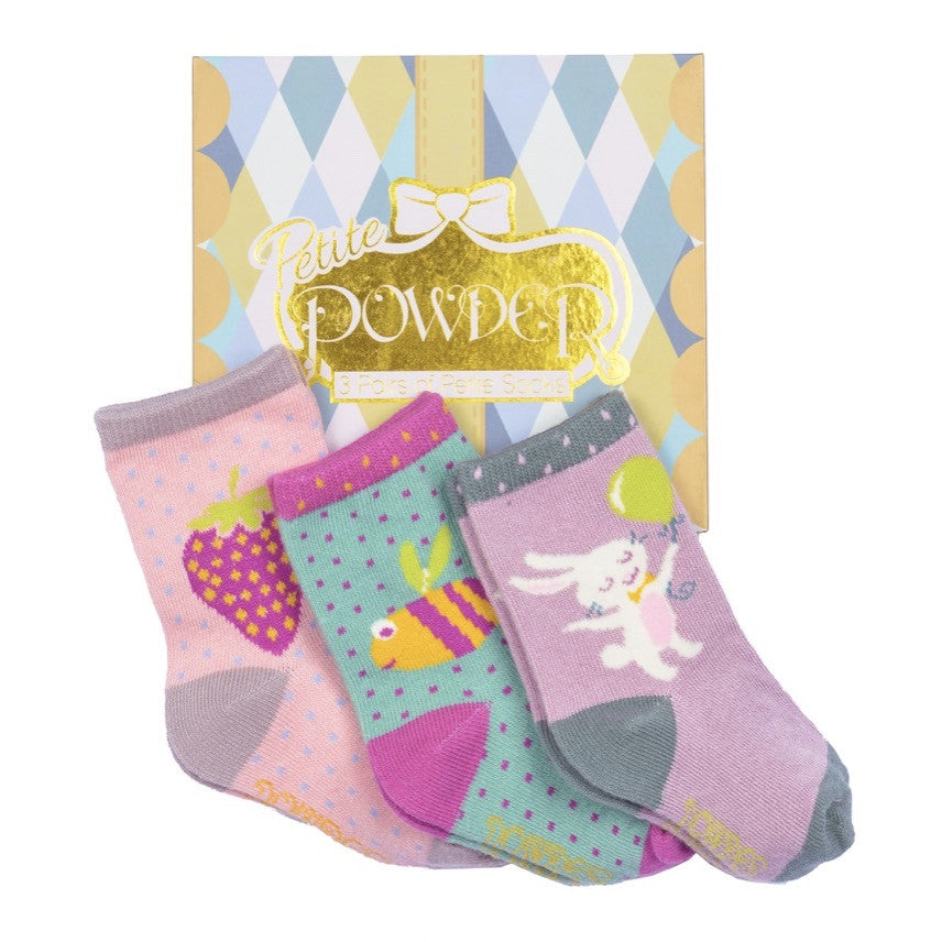 Powder Uk Baby Sock Gift Box - Girl, PDL-Powder Design Limited, Putti Fine Furnishings