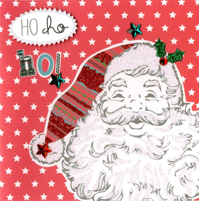 """Ho Ho Ho"" Santa Face Boxed Christmas Greeting Cards"