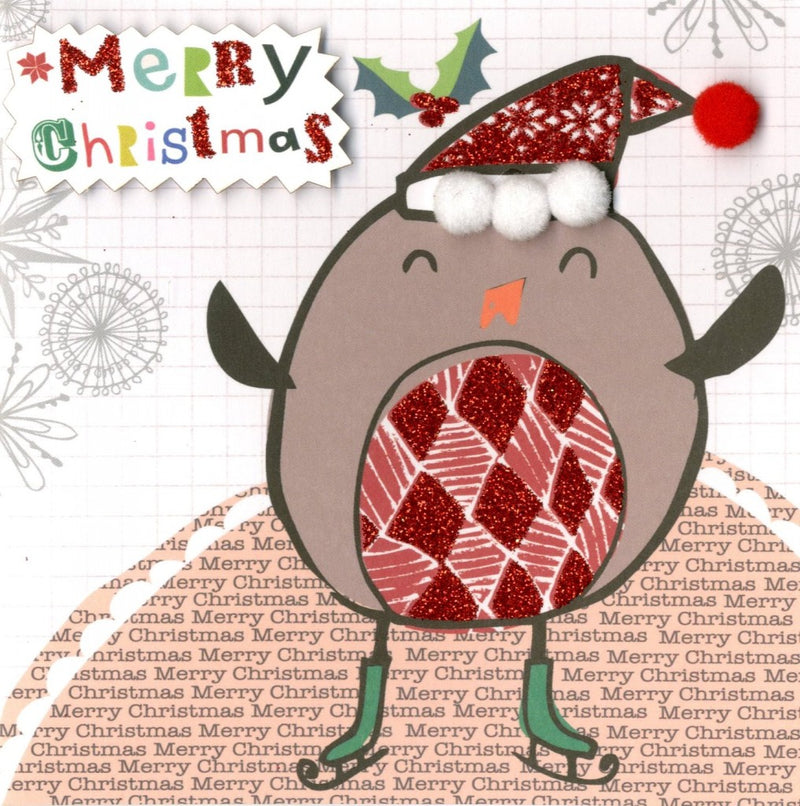 """Merry Christmas"" Robin Boxed Christmas Greeting Cards"