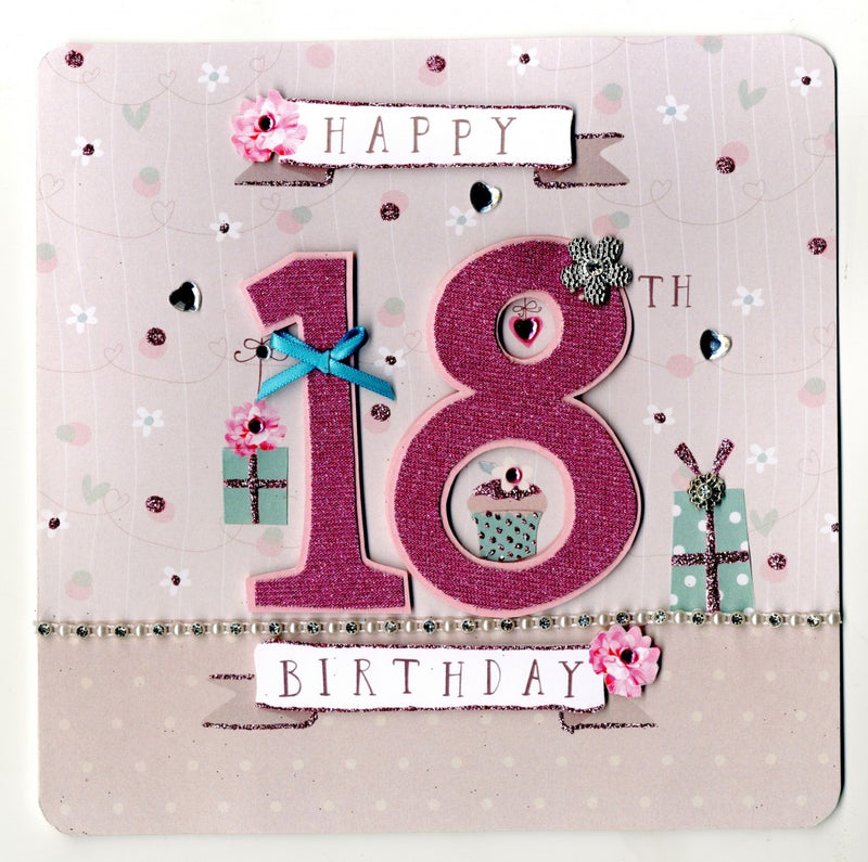 """Happy 18th Birthday"" Greeting Card, ID-Incognito Distribution, Putti Fine Furnishings"
