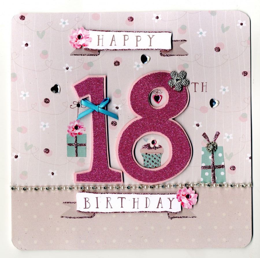 """Happy 18th Birthday"" Greeting Card"