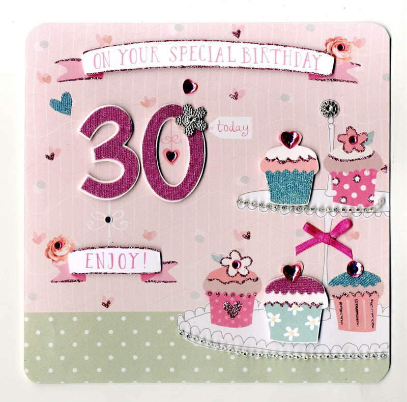 """On your Special Birthday 30 Today"" Greeting Card, ID-Incognito Distribution, Putti Fine Furnishings"