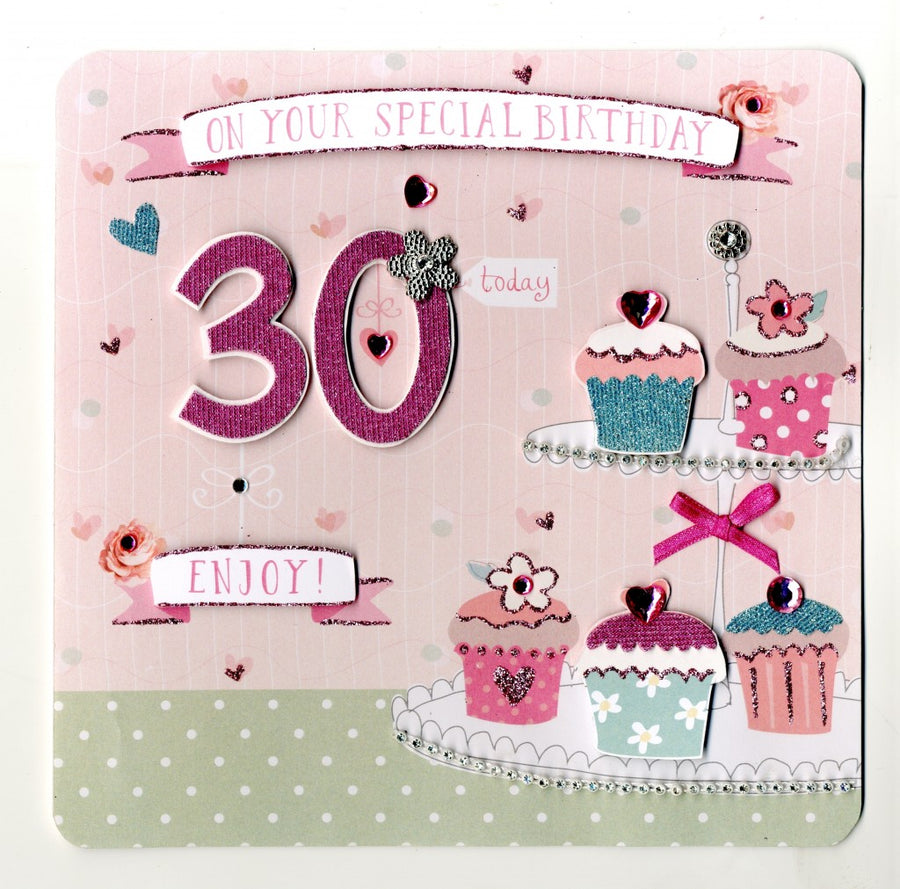 """On your Special Birthday 30 Today"" Greeting Card"