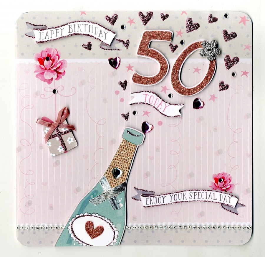 """Happy birthday 50 Today"" Greeting Card"