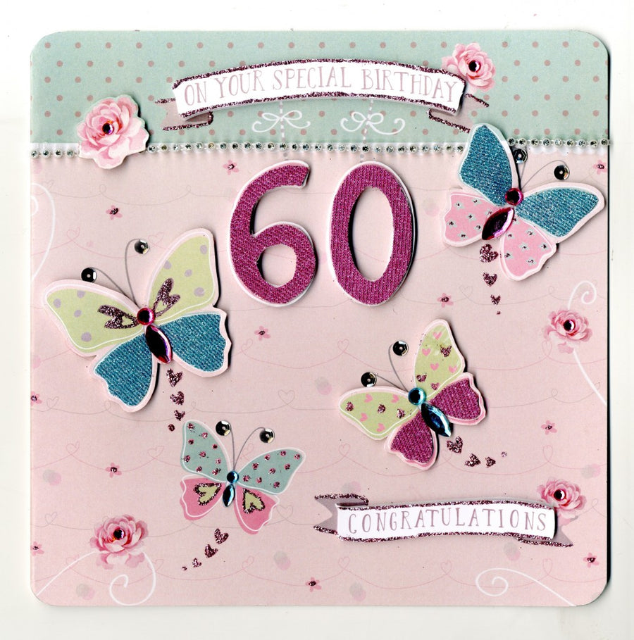 """On your special birthday 60"" Greeting Card"