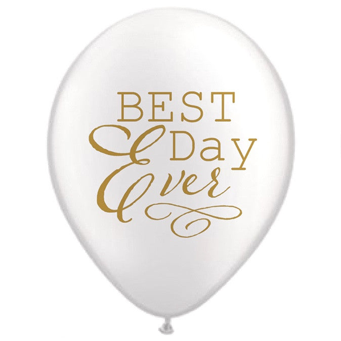 """Best Day Ever"" Balloon - White"