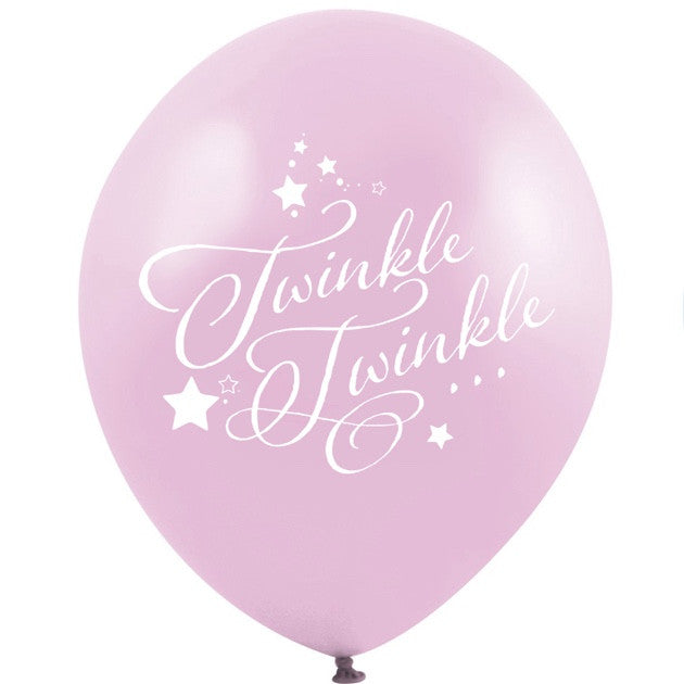 """Twinkle Twinkle"" Balloon - Pink, VA-Vintage Angel, Putti Fine Furnishings"