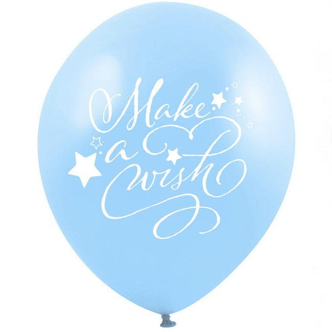"""Make a Wish"" Balloon - Blue"