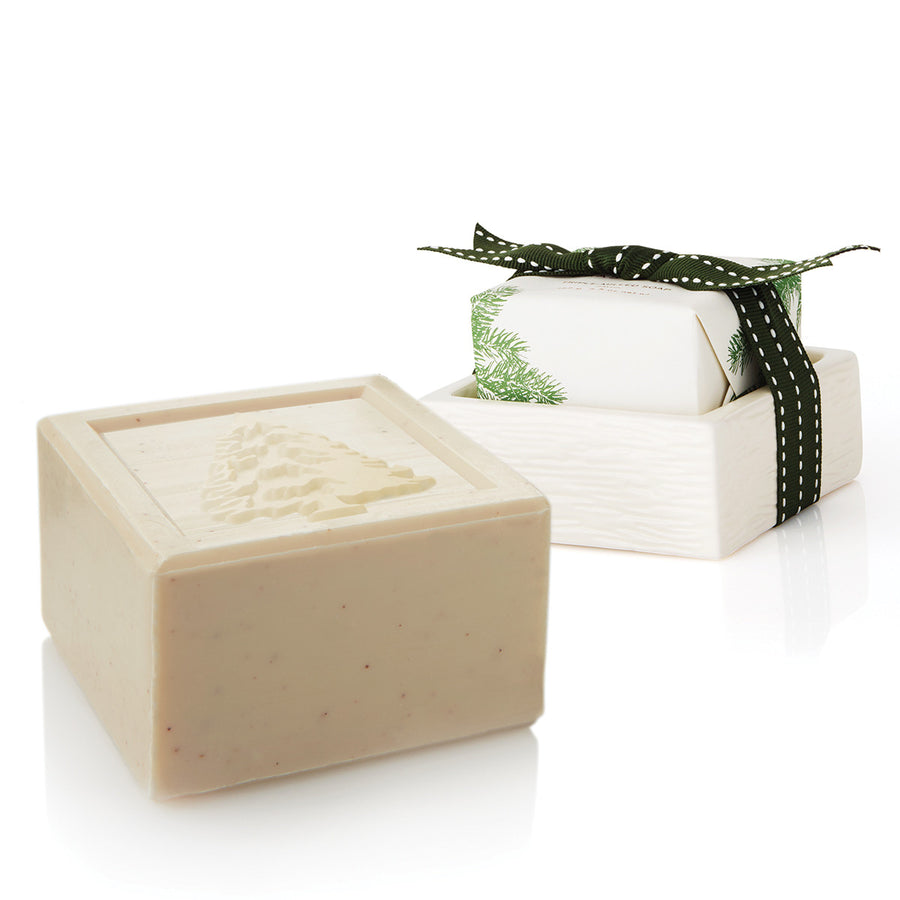Thymes Frasier Fir Bar Soap & Dish Set