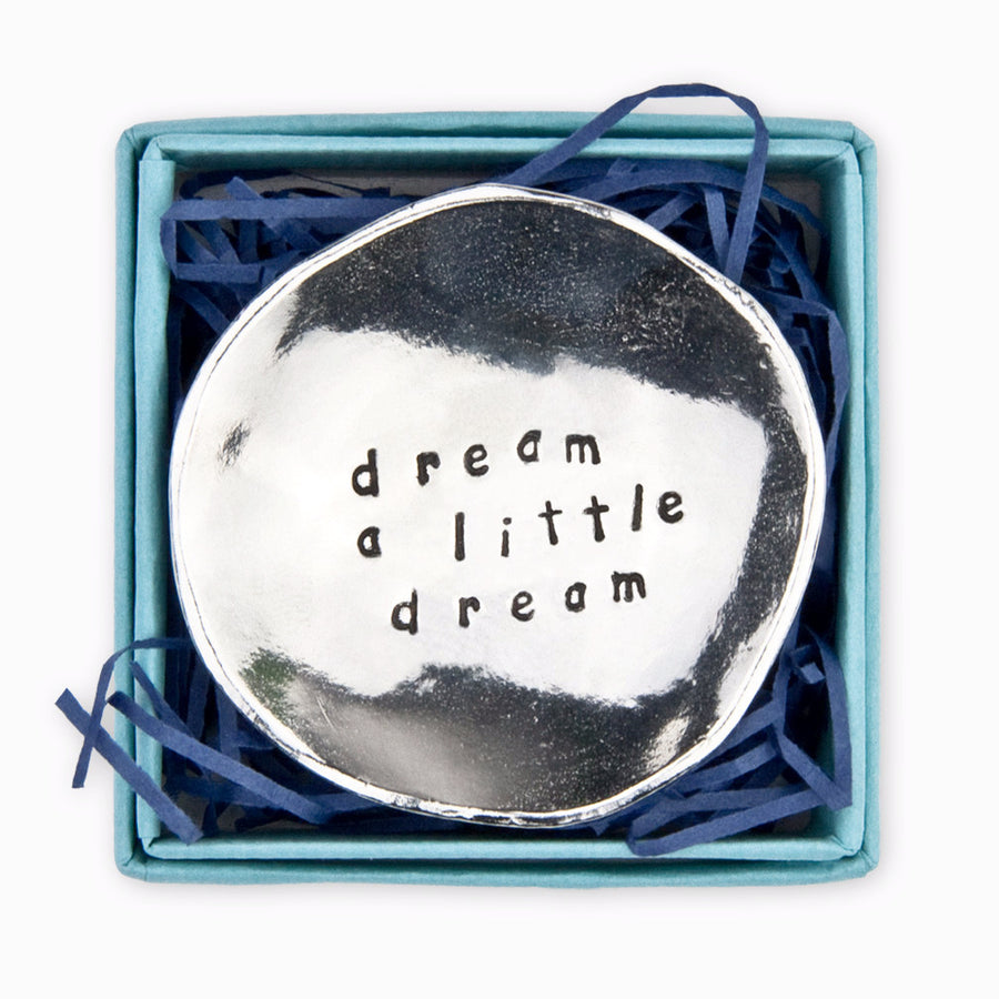 """Dream a Little Dream"" Pewter Charm Bowl -Small"