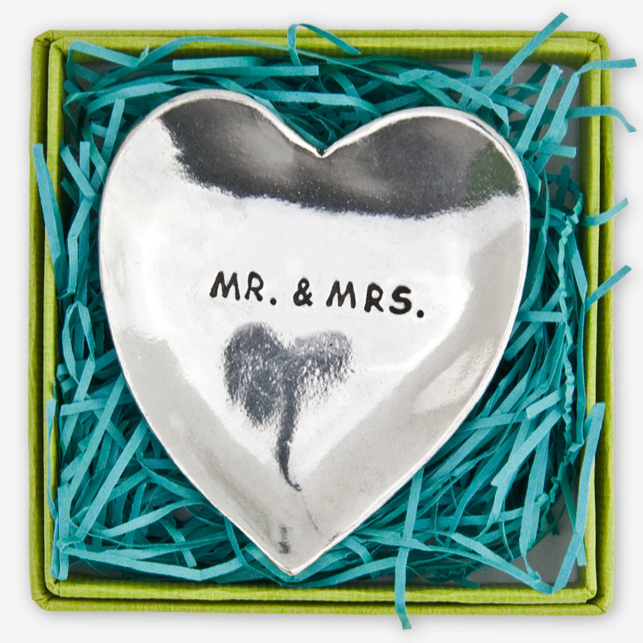 """Mr & Mrs"" Pewter Charm Bowl - Large"