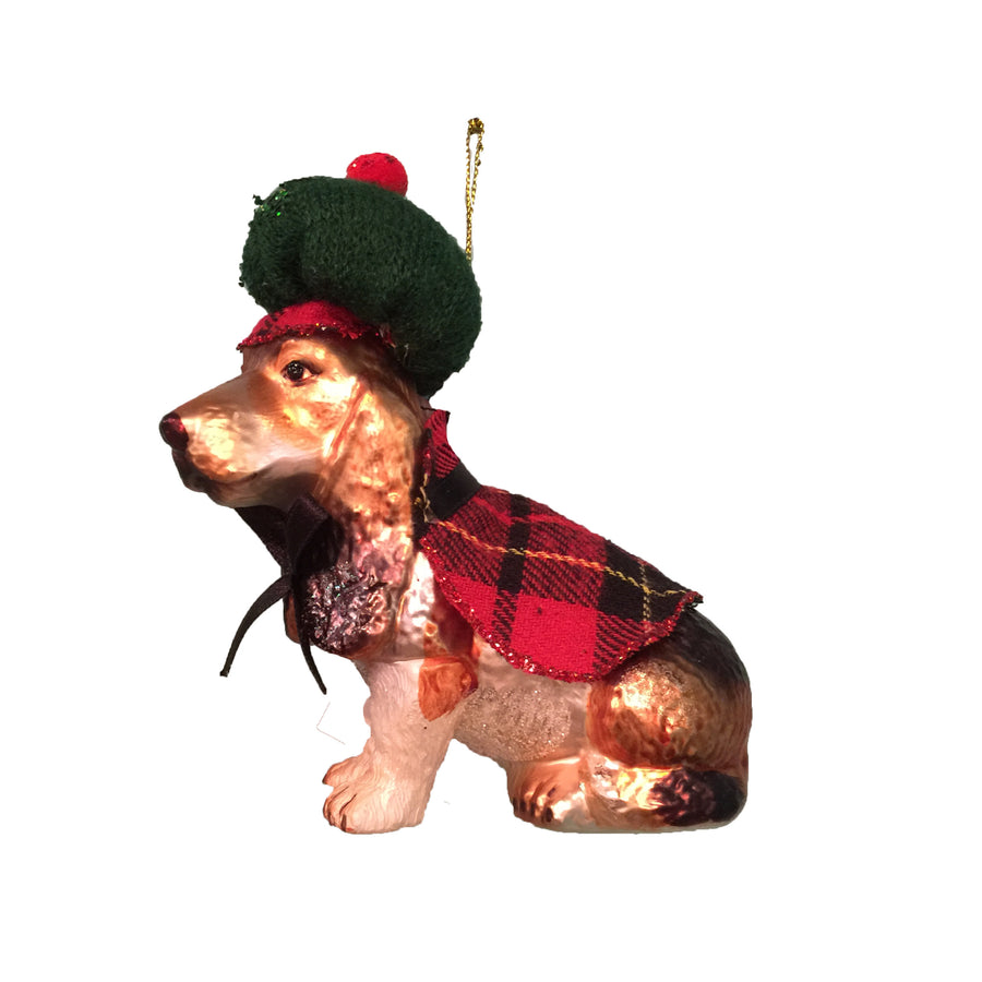 Jim Marvin Glass Beagle Ornament