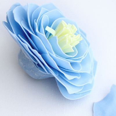 A' Maries Bleu Shoreline Vintage Peony Soap Petal Flower | Putti Fine Furnishings Canada