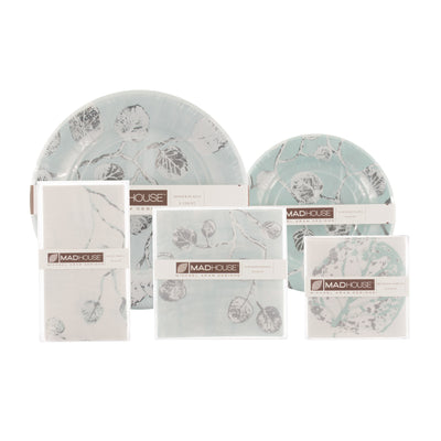 Michael Aram Botanical Leaf Paper Dinner Plates -  Paper Napkin - Madhouse - Putti Fine Furnishings Toronto Canada - 4
