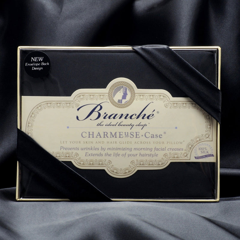 Branche Silk Charmeuse Pillowcase - Black