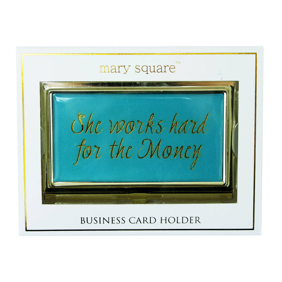 """She works hard for the money""  Business Card Holder, PG-Premier Gift, Putti Fine Furnishings"