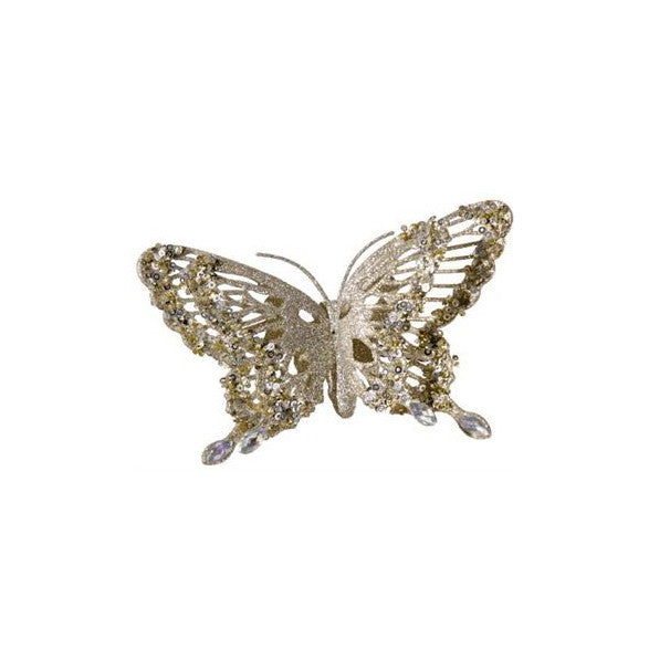Glittered Butterfly - Champagne Gold