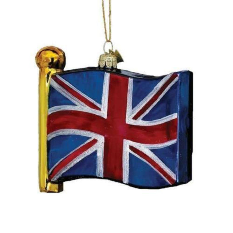 Kurt Adler Union Jack Glass Ornament | Putti Christmas