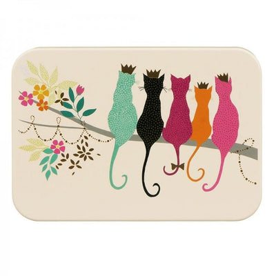 Sara Miller Small Rectangular Tin - Cats