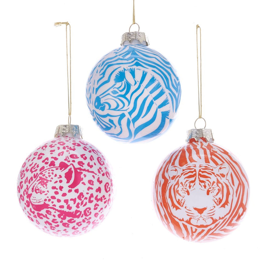 Animal Decal On Glass Ball Ornaments