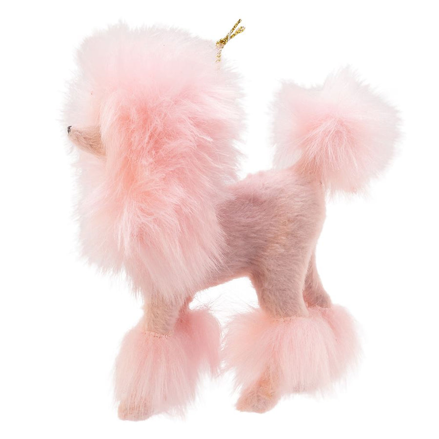 Kurt Adler Plush Pink Poodle Ornament | Putti Christmas