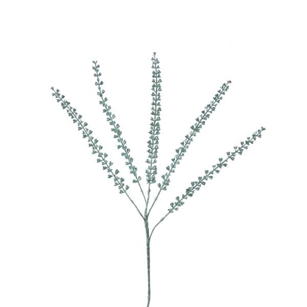 Kurt Adler Mint Green Glitter Fern Leaf Spray | Putti Christmas Canada
