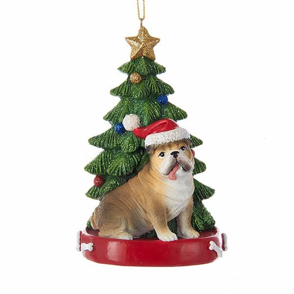 Kurt Adler Bulldog Ornament  | Putti Christmas Decorations