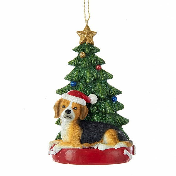 Kurt Adler Beagle Ornament  | Putti Christmas Decorations