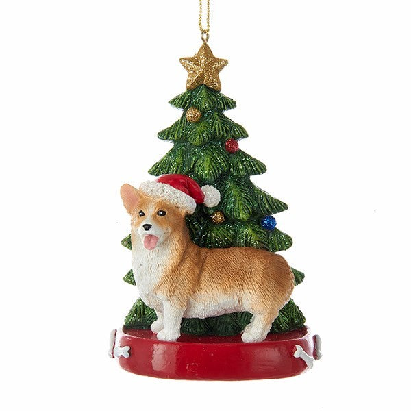 Kurt Adler Corgi with Tree Ornament